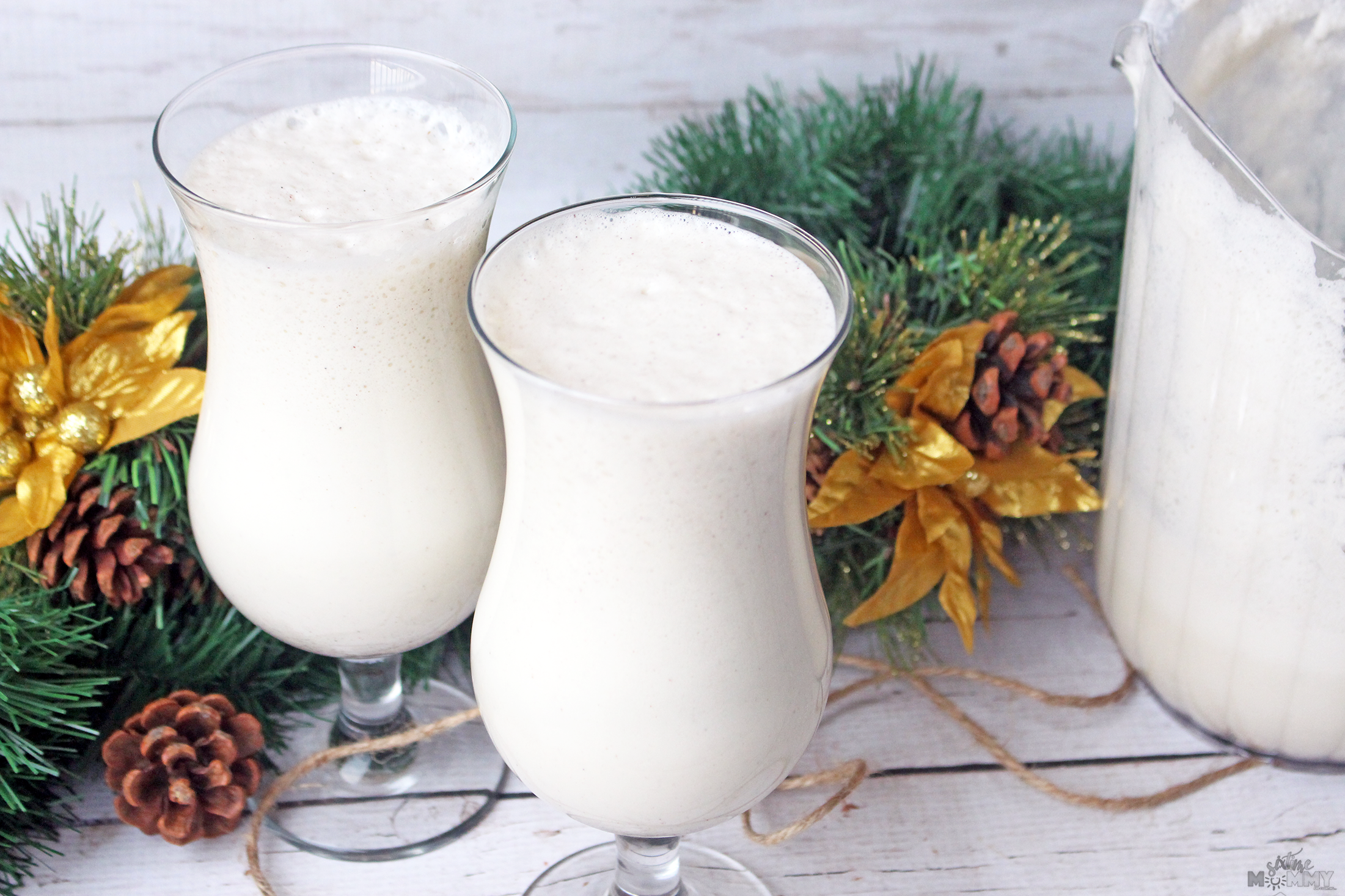 Homemade Eggnog With A Delicious Frothy Topping