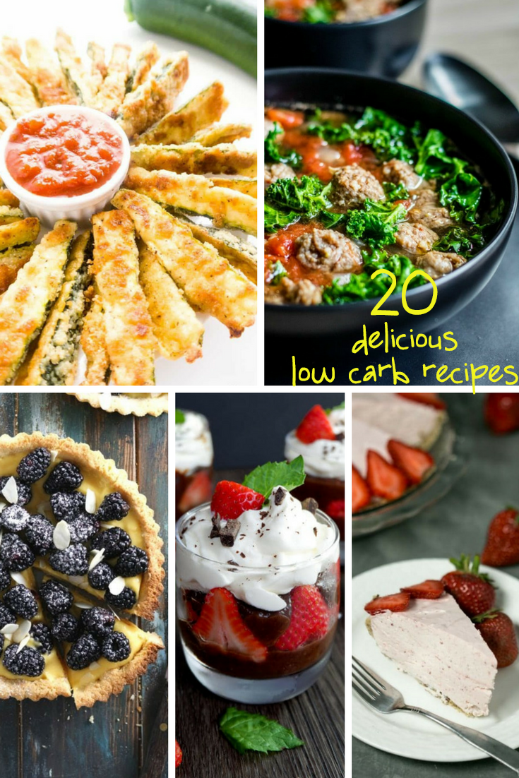 20 Delicious LOW CARB recipes - sixtimemommy.com