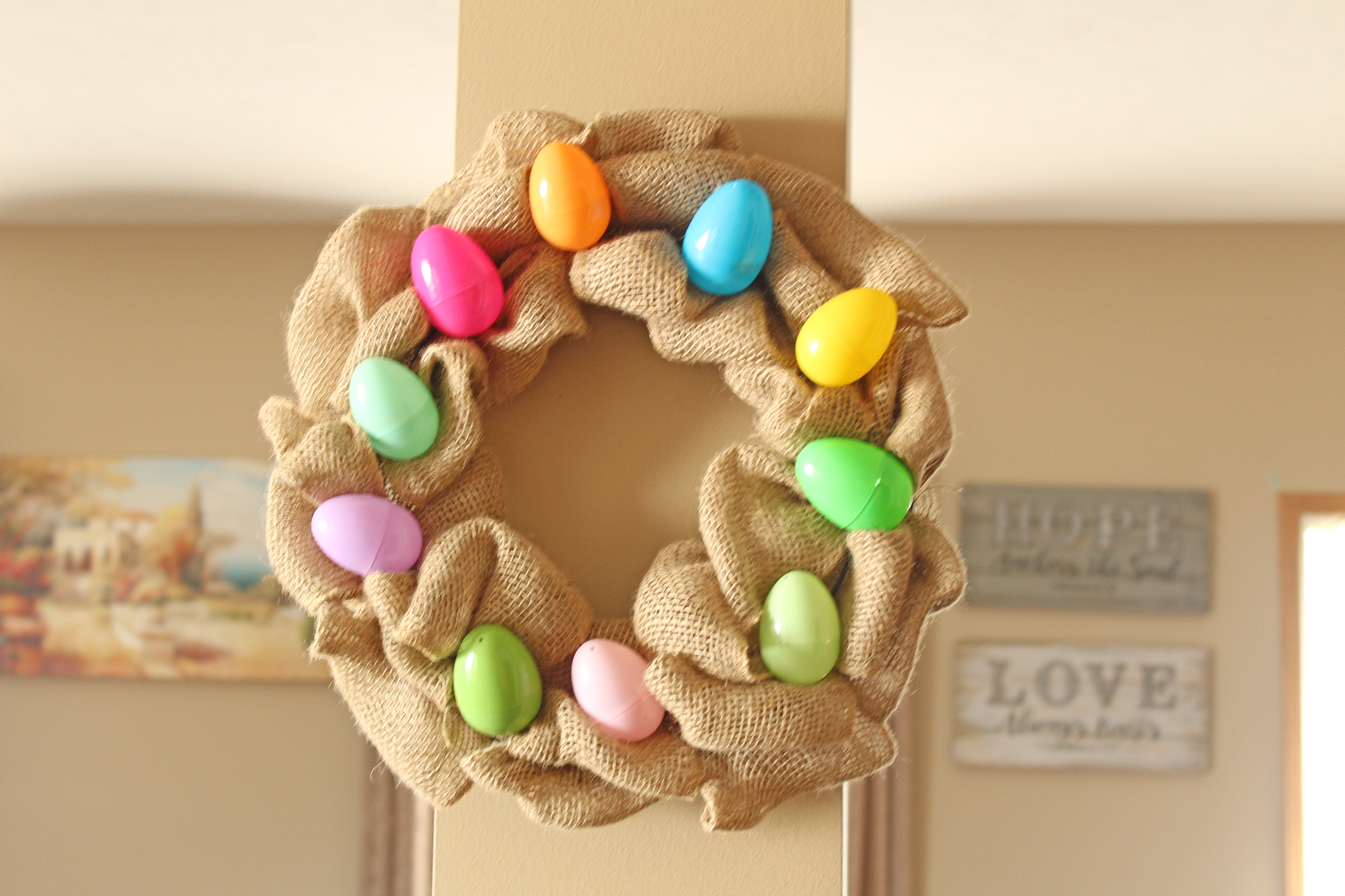 Easter Egg Wreath DIY