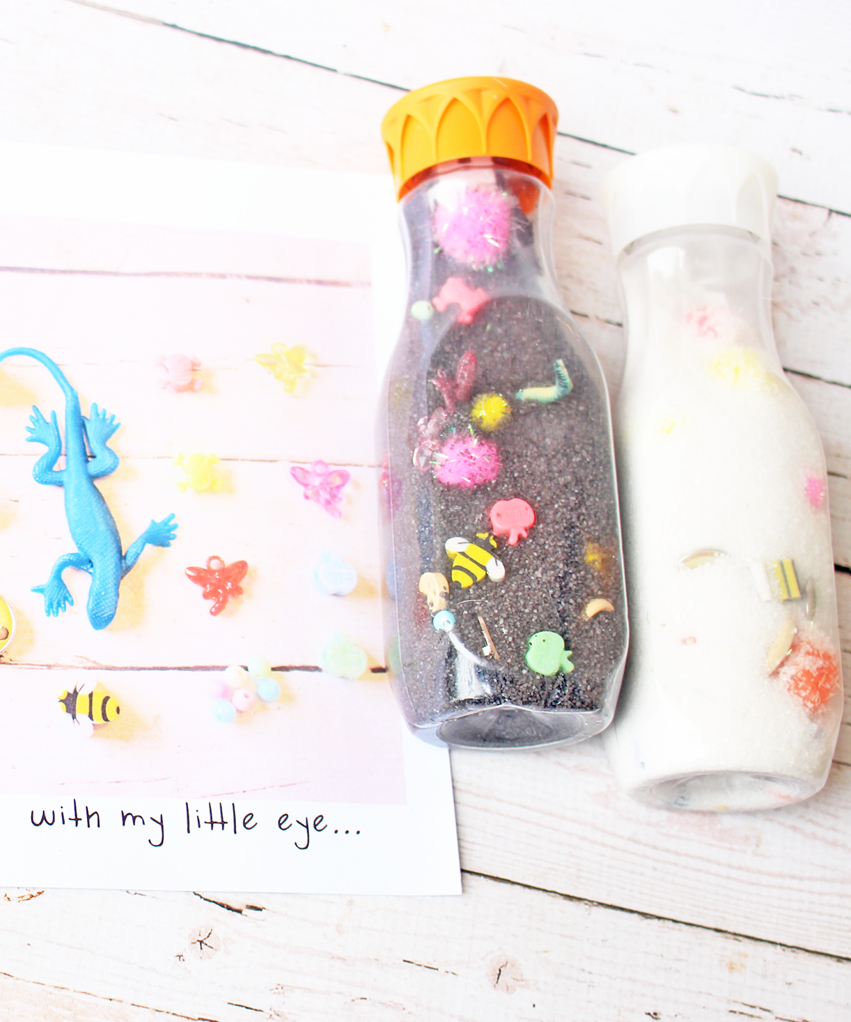 Make Your Own DIY i-Spy Bottles for Kids