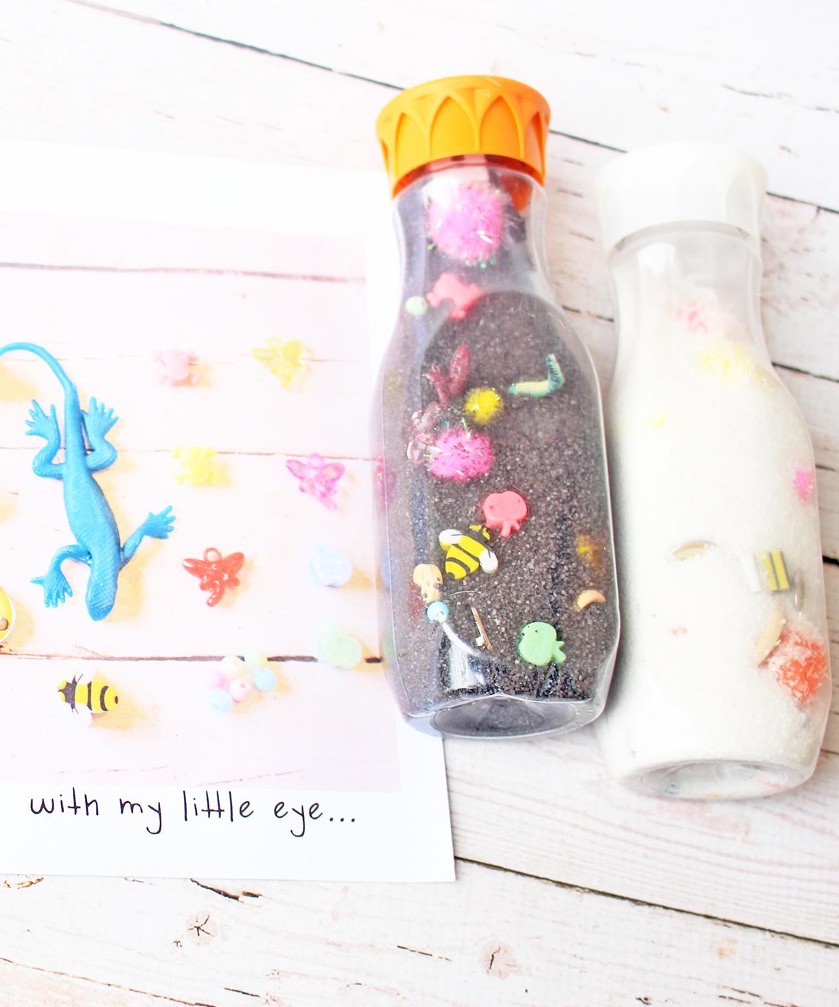 Make Your Own DIY i-Spy Bottles for Kids