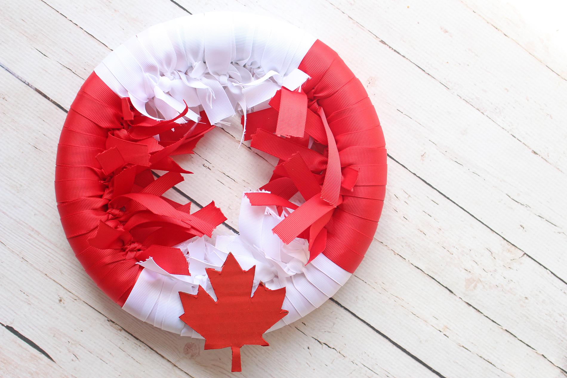 DIY Canada Day Wreath