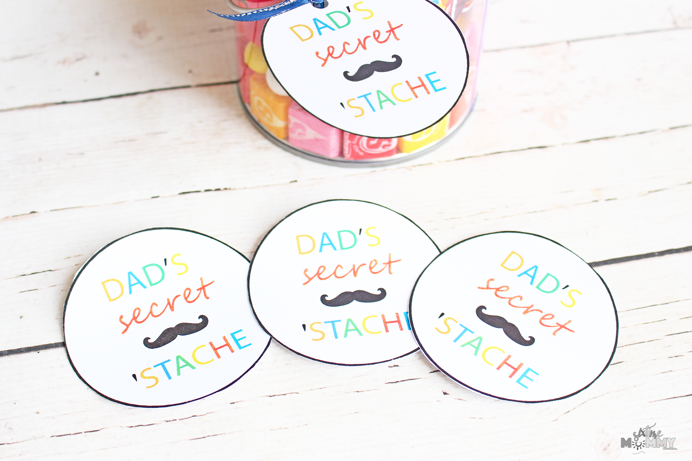 Father's Day Gift Idea: DIY Dad's Secret Stache Treats + FREE Printable