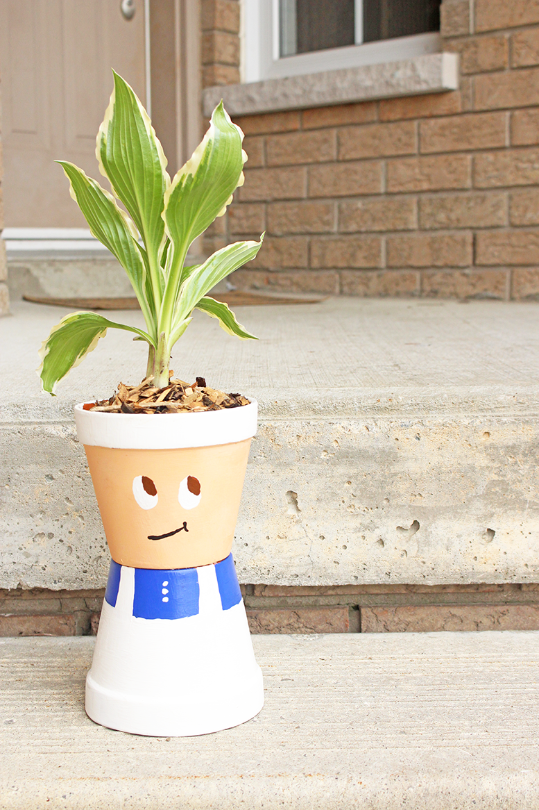 DIY Terracotta Pot Chef Plant Holder