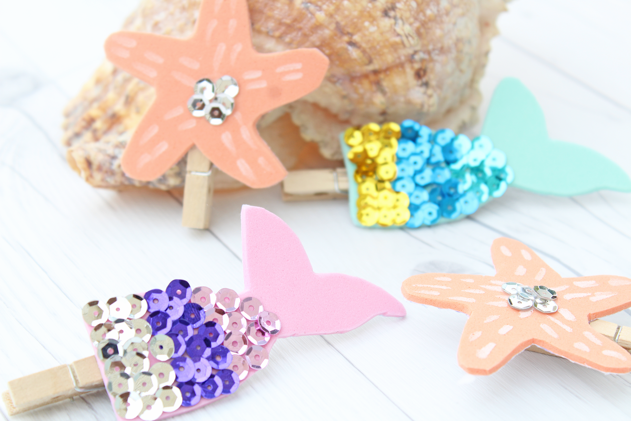 Mermaid Kisses and Starfish Wishes DIY Bookmarks