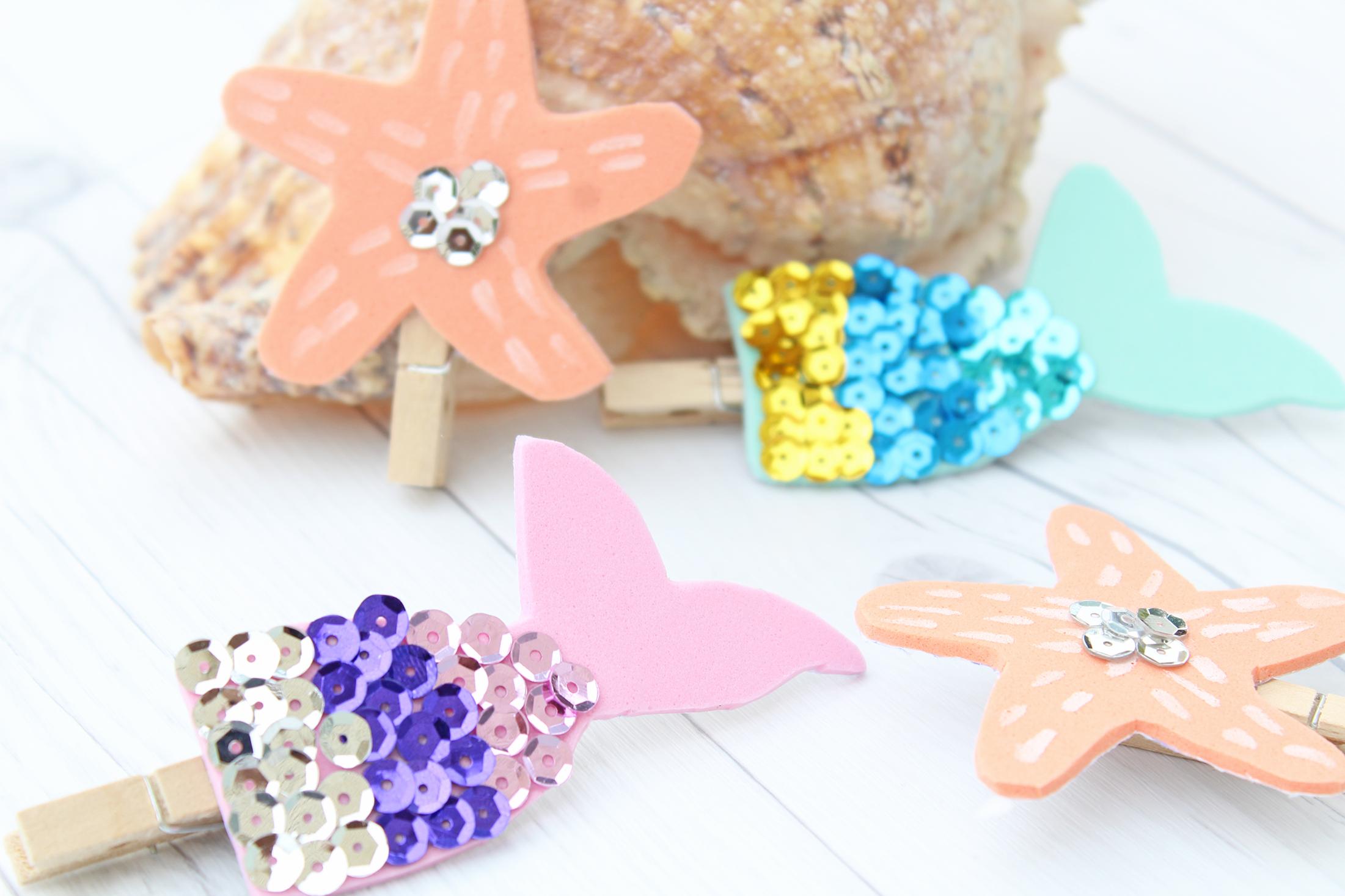 Mermaid Kisses and Starfish Wishes DIY Bookmarks