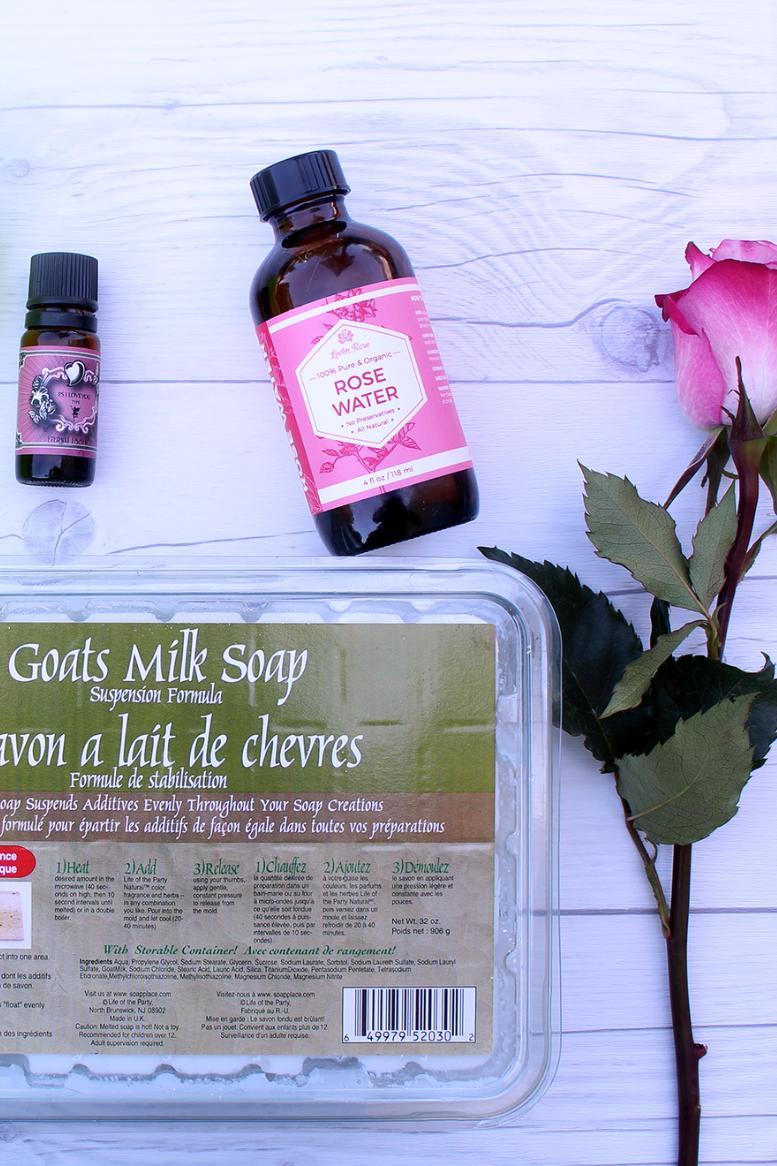 Homemade Lavender Rose Soap