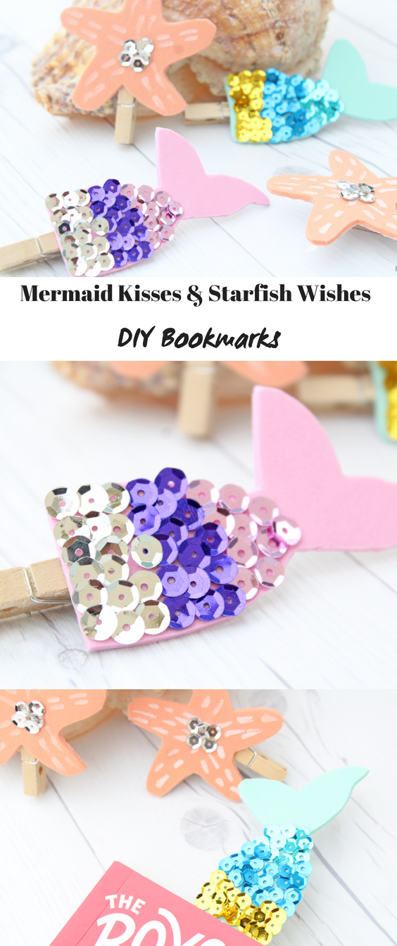"Mermaid Wishes and Starfish Kisses DIY Bookmarks"" /></div> </div><footer class="