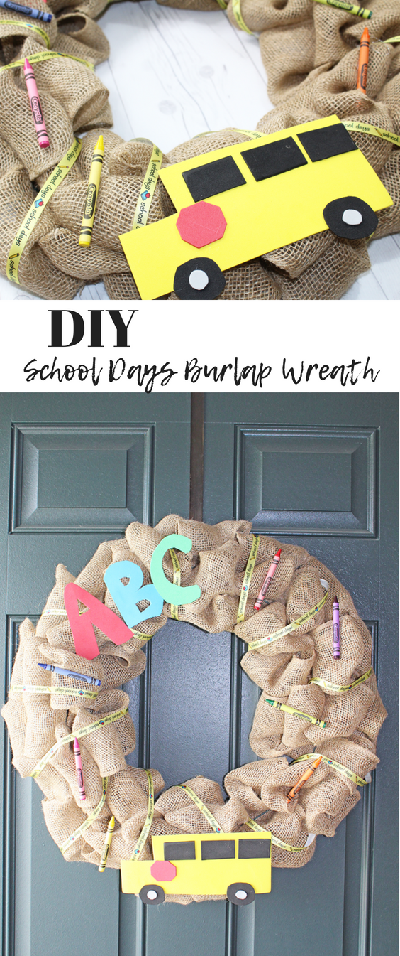 "DIY School Days Burlap Wreath"" /></div> </div><footer class="