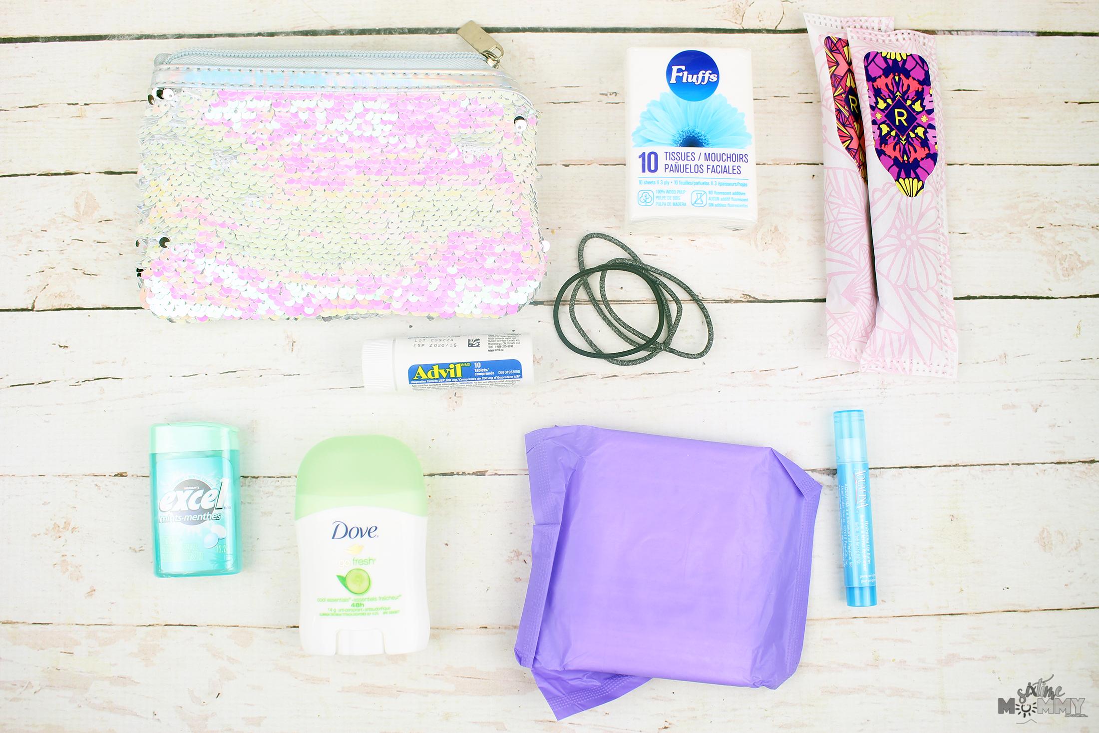 DIY Preteen/Teen Girls School Emergency Pack on a Budget
