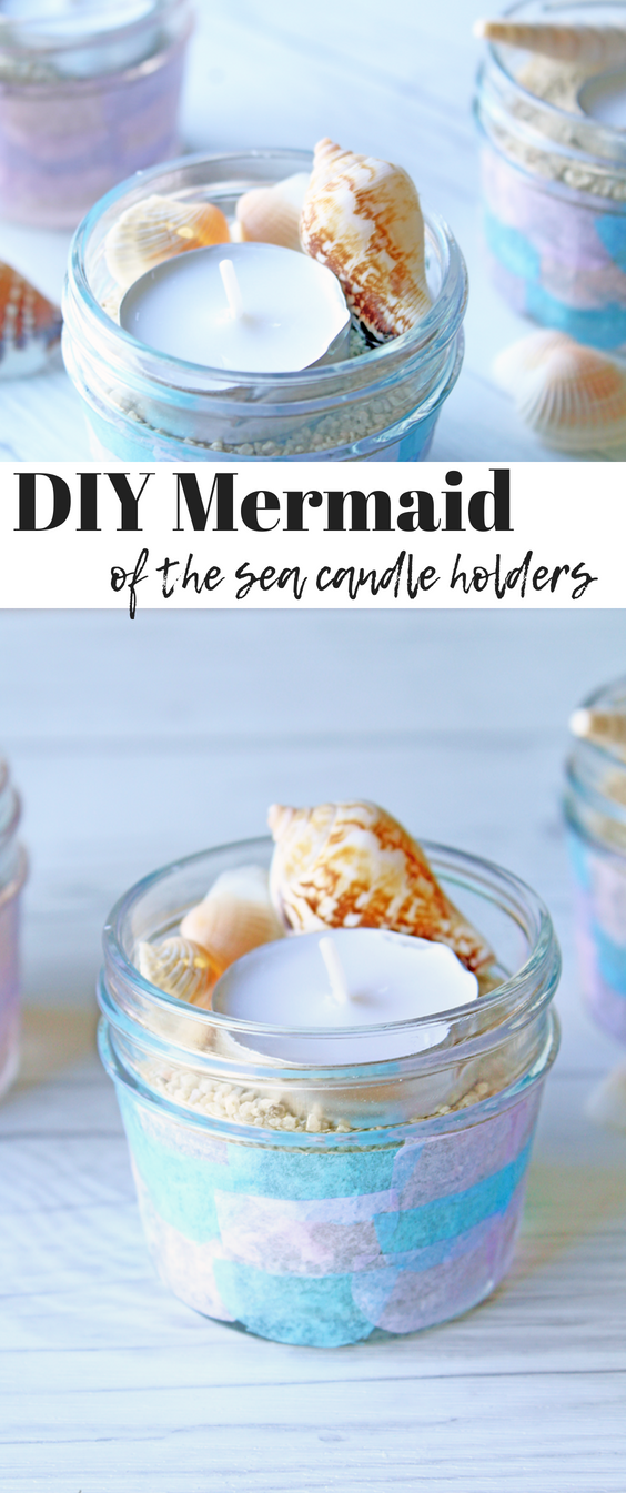"DIY Mermaid of the Sea Candle holders"" /></div> <div class="