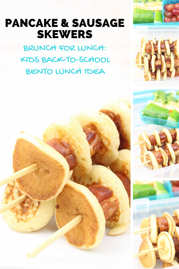 Pancake & Sausage Skewers: The Perfect Back-to-School Bento Lunch - sixtimemommy.com