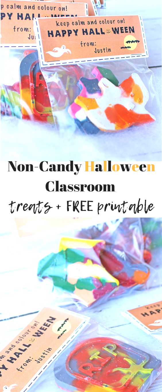Non-Candy Halloween Classroom Treats + FREE Printable