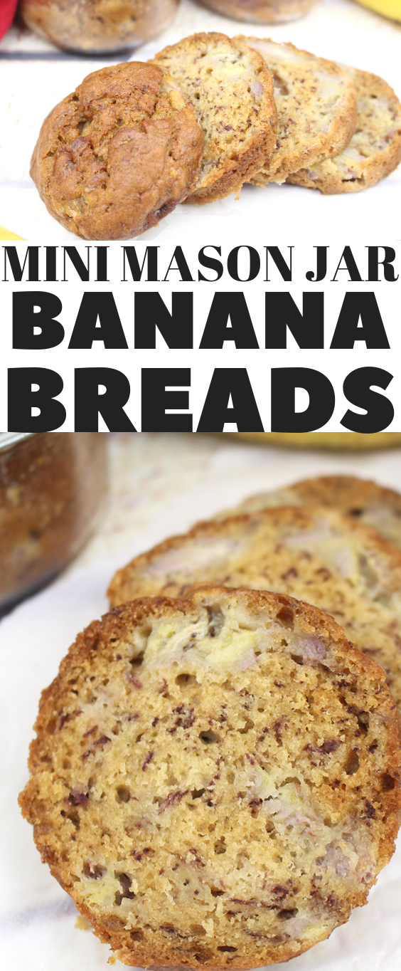 Mini Mason Jar Banana Breads