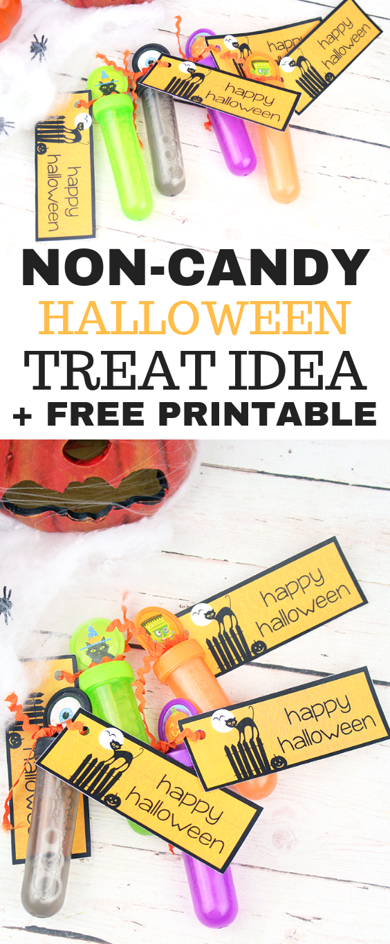 Non-Candy Halloween Treat Idea + FREE Printable