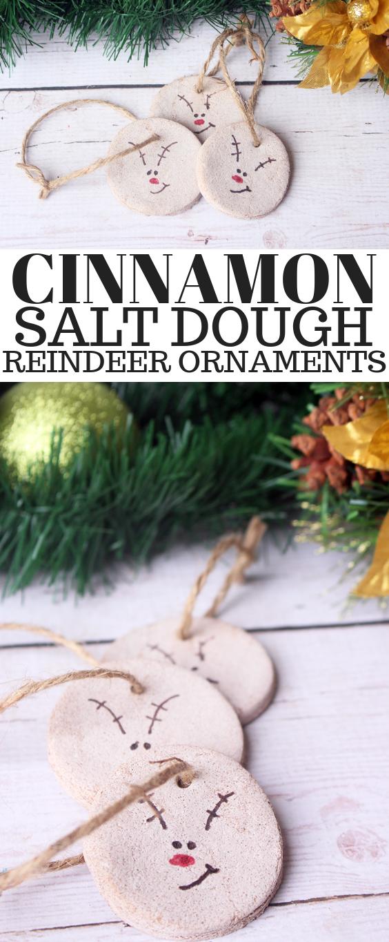 Easy Cinnamon Salt Dough Reindeer Ornaments