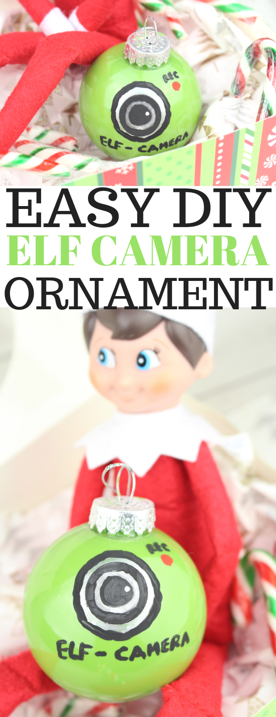 Easy DIY Elf Camera Ornament