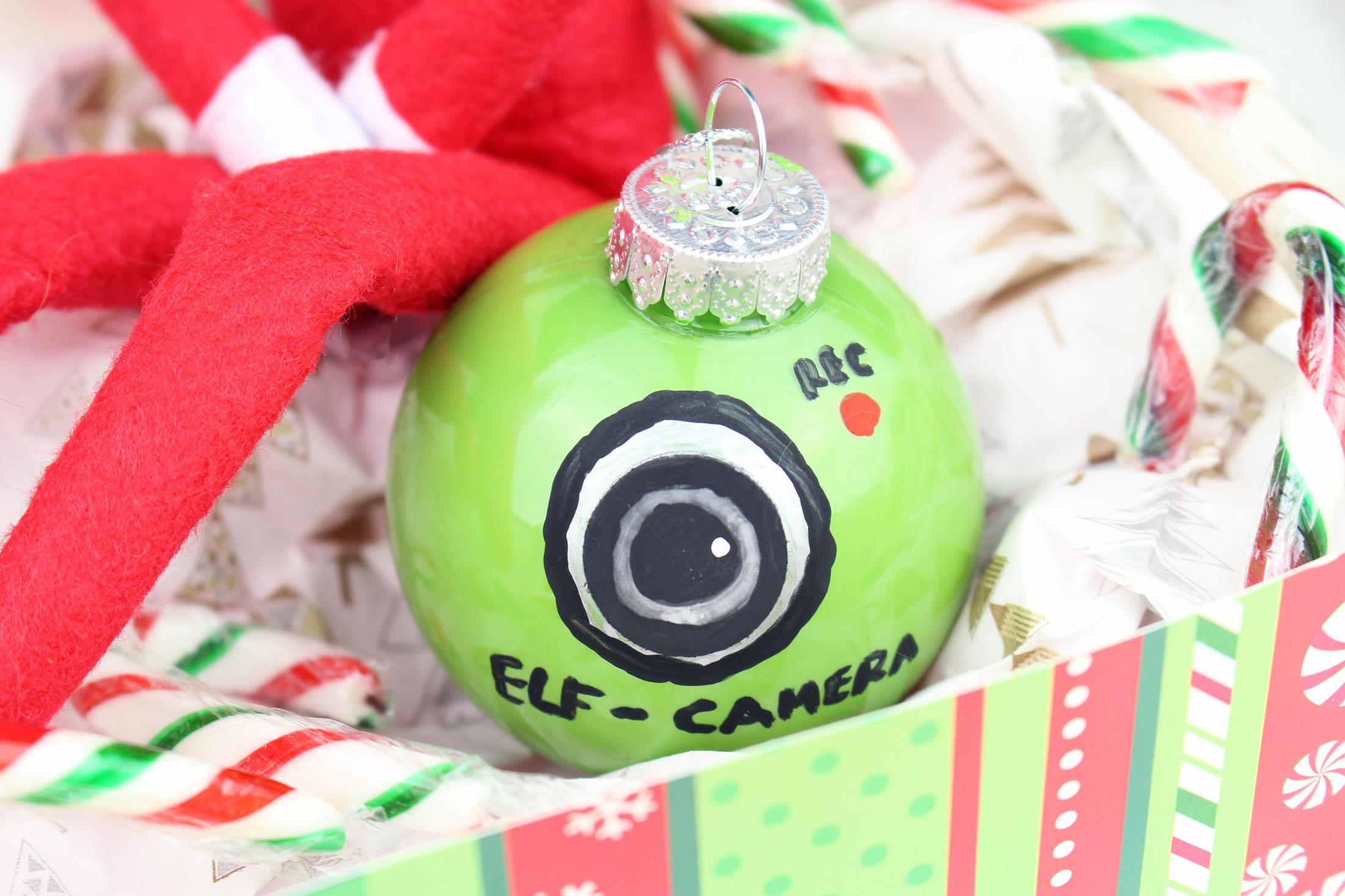 Elf Camera Ornament