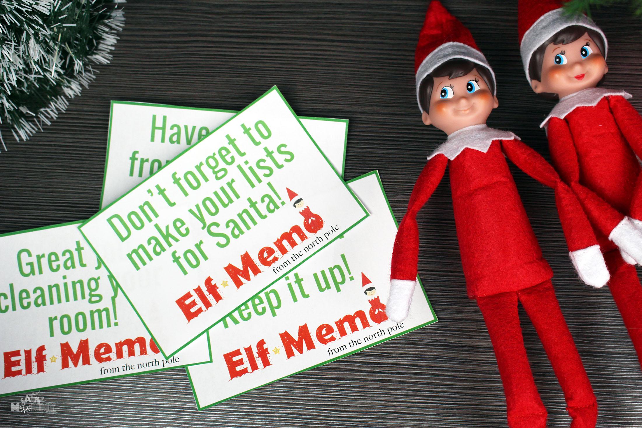 Elf On The Shelf Printable Customizable Elf Memo Notes