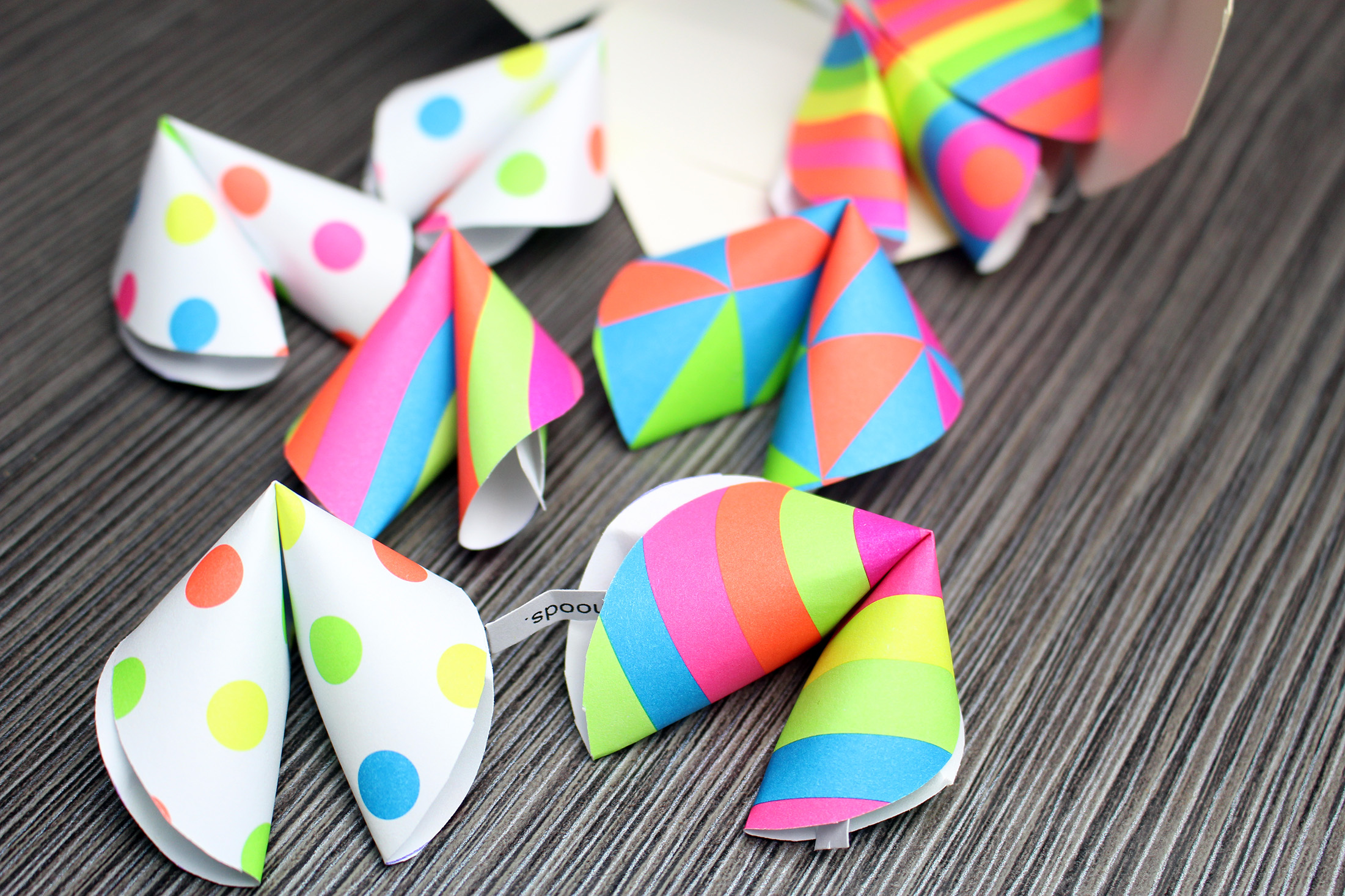 Positive Paper Fortune Cookies Craft for Kids