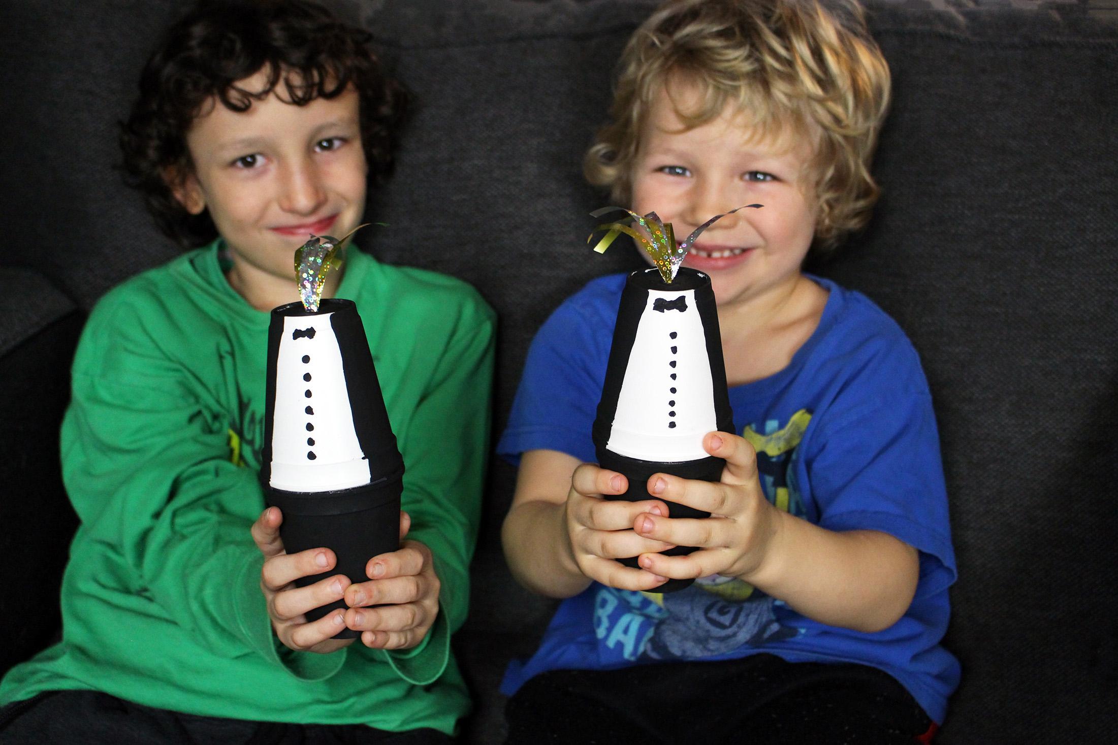 Tuxedo New Years Eve Noise Maker Shakers