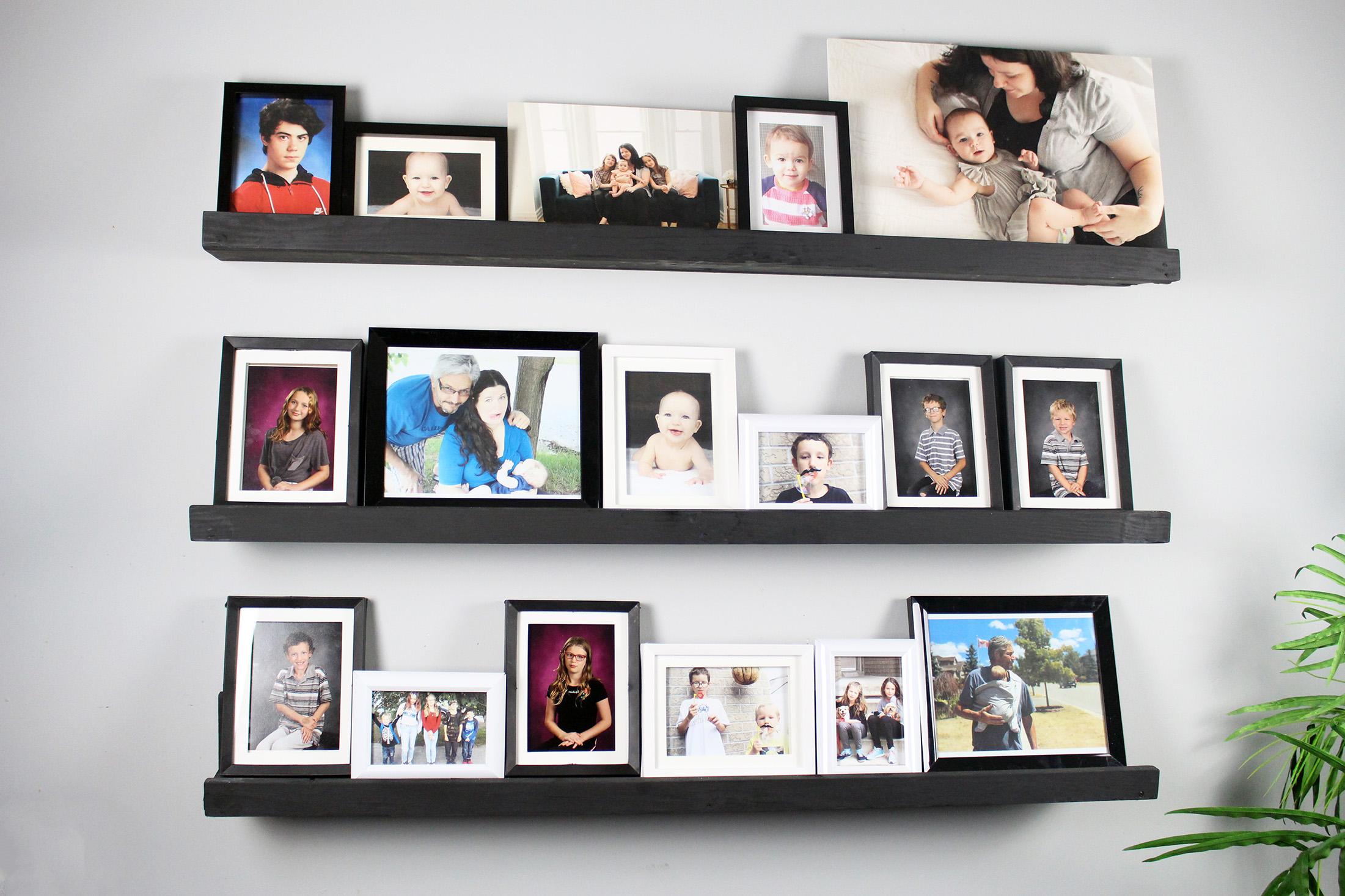 DIY Picture Ledge Shelves