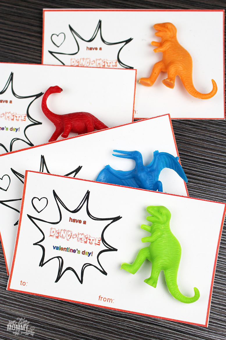Free Printable Dinosaur Valentine's Day Cards
