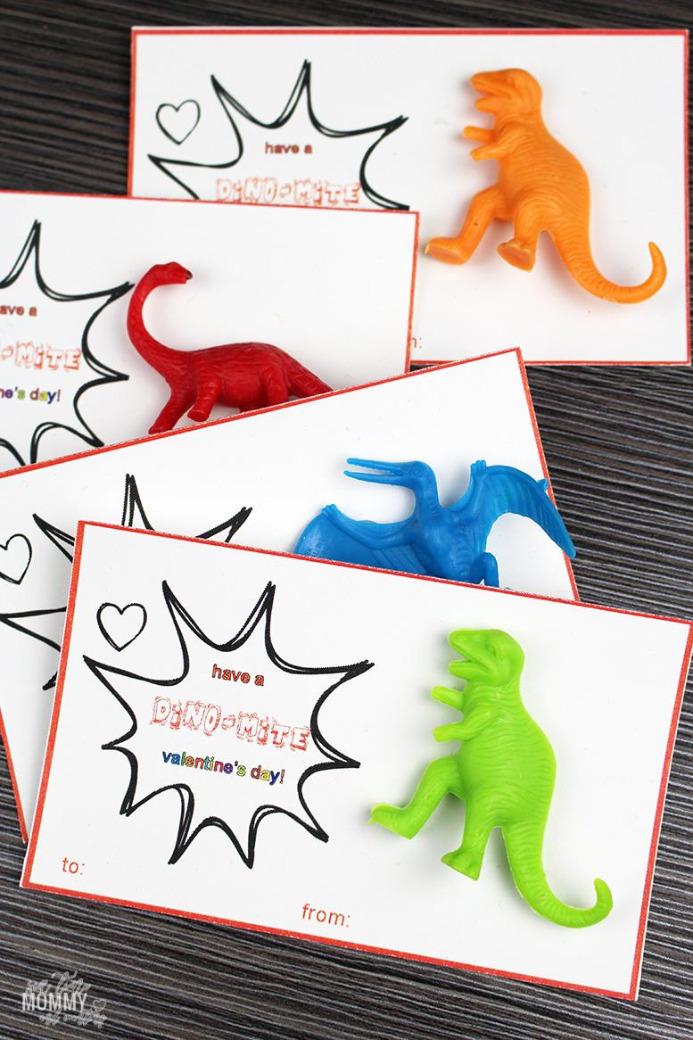 Free Printable Dinosaur Valentine's Day Cards