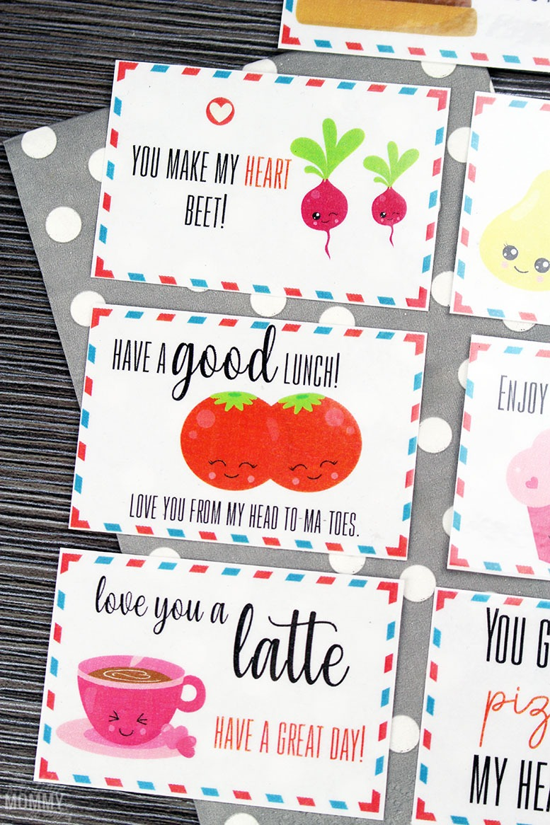 Printable Lunchbox Valentine's Love Notes