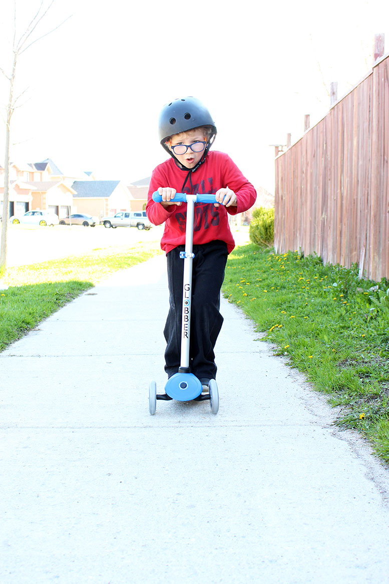 Outside Play With Globber Scooters