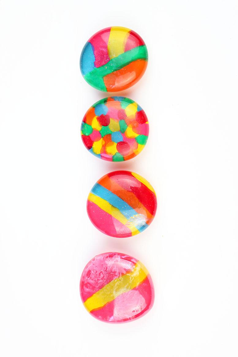 DIY Glass Gem Fridge Magnets