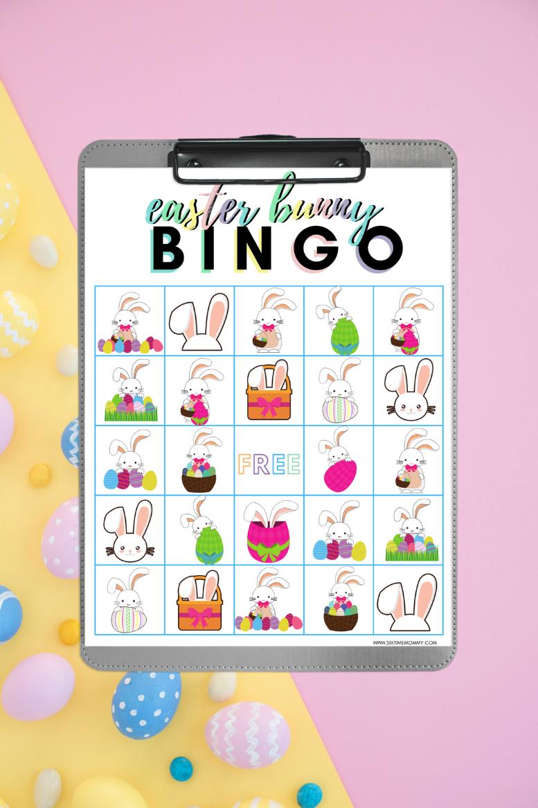 Easter Bunny Bingo [Free Printable]