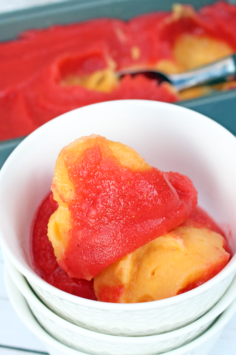 Strawberry and Peach Sorbet