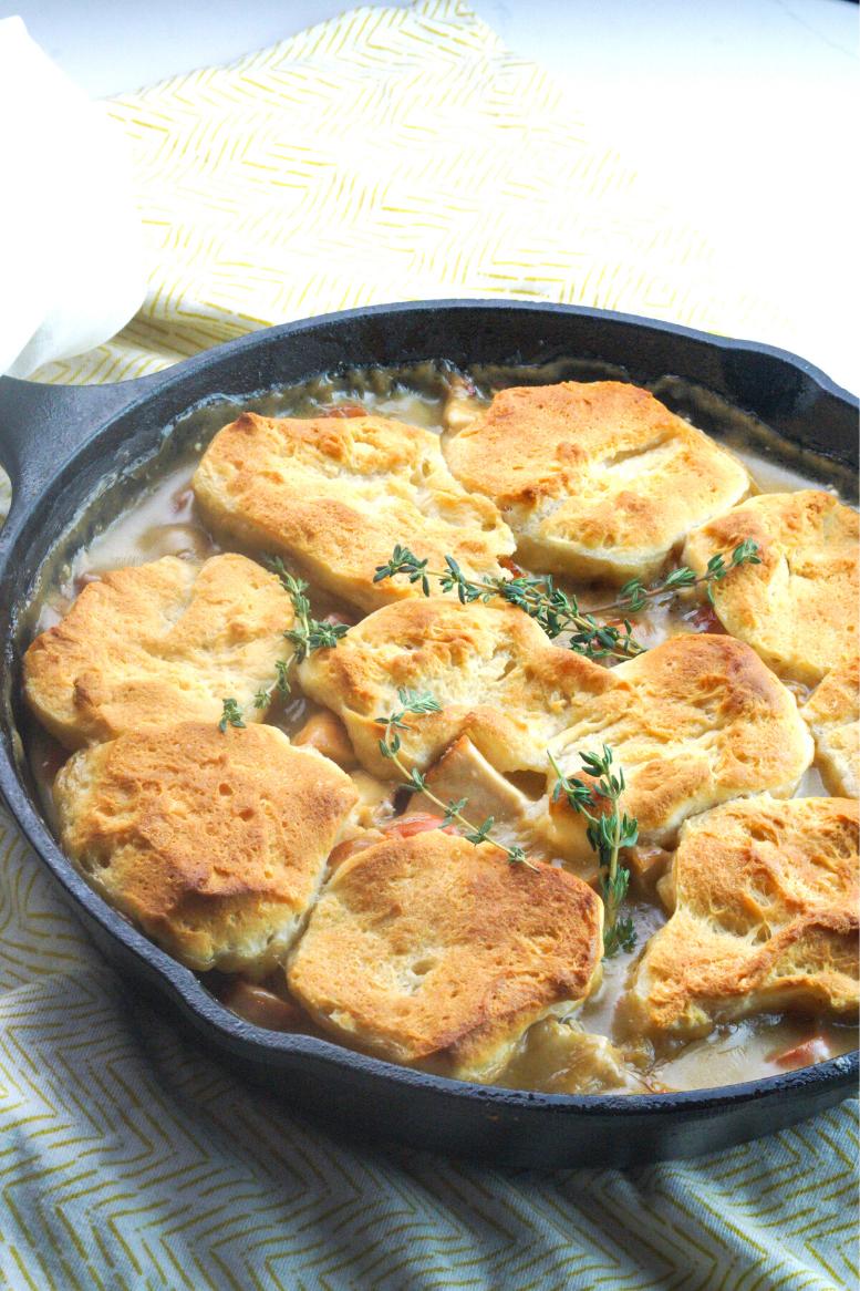 Homemade Skillet Chicken Pot Pie