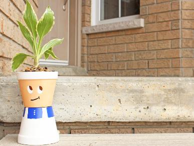 DIY Terracotta Pot Chef Plant Holder