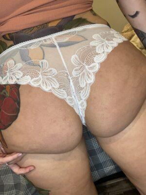 Kate's White Lace Cheekies [Pregnant]