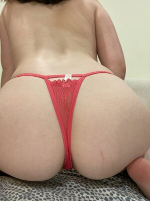 Mia's Red String Strap Thong