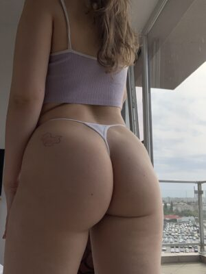 Anna's White With Accessory Thong