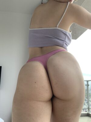 Anna's Pink Bow Cotton Thong