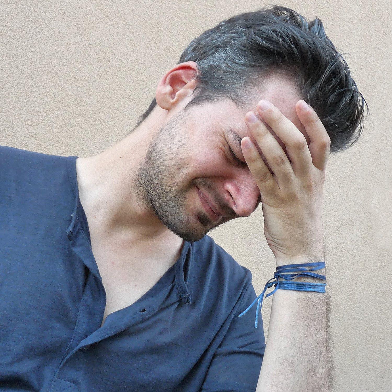 Man with tension headache