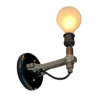 connector rod sconce round bulb