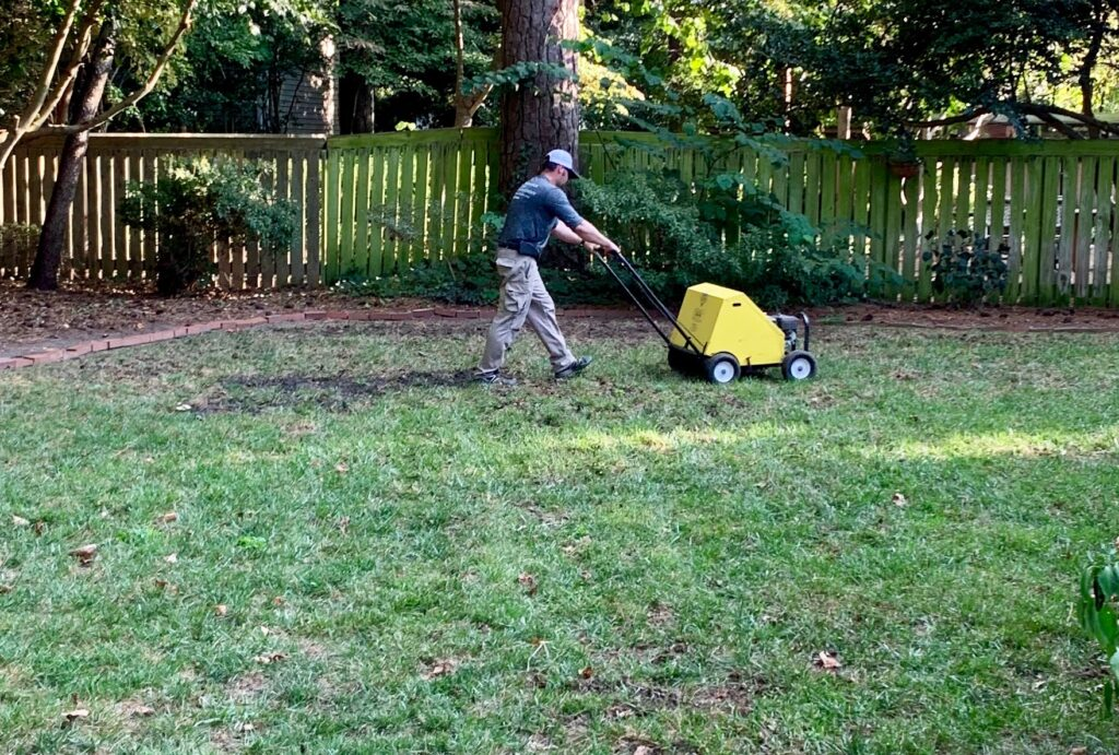 Seeding & Aeration by Prestigious Turf Management - Lawn Care Specialists - Yorktown VA