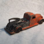 Vintage Tootsie Toy Red and Black Tow Truck