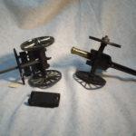 Vintage Civil War Ammunition Cart and Cannon