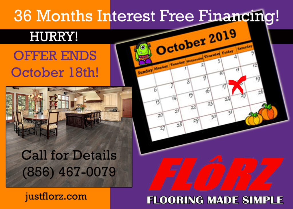 36 months interest free financing, carpet and flooring