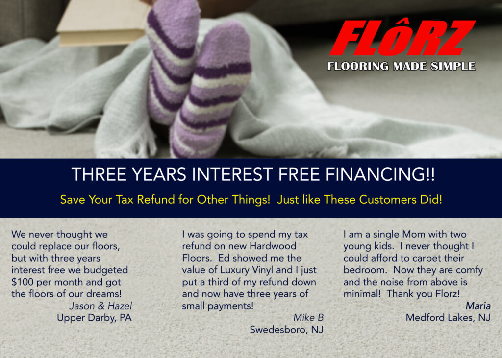 New Flooring, Interest Free Financing