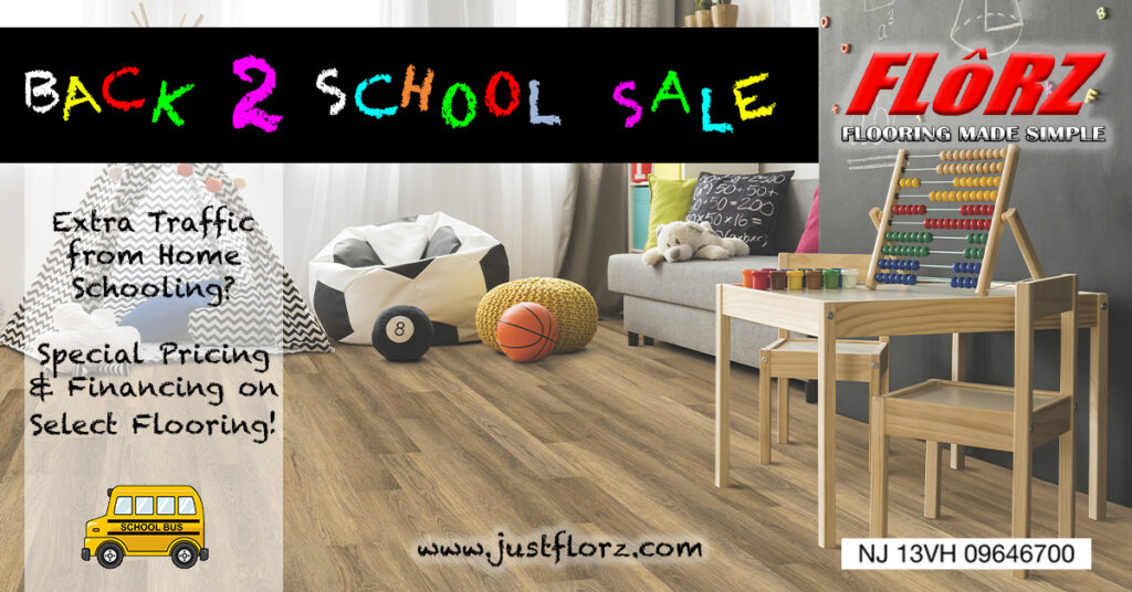 Back to School Sale, Flooring South Jersey, Delco Flooring