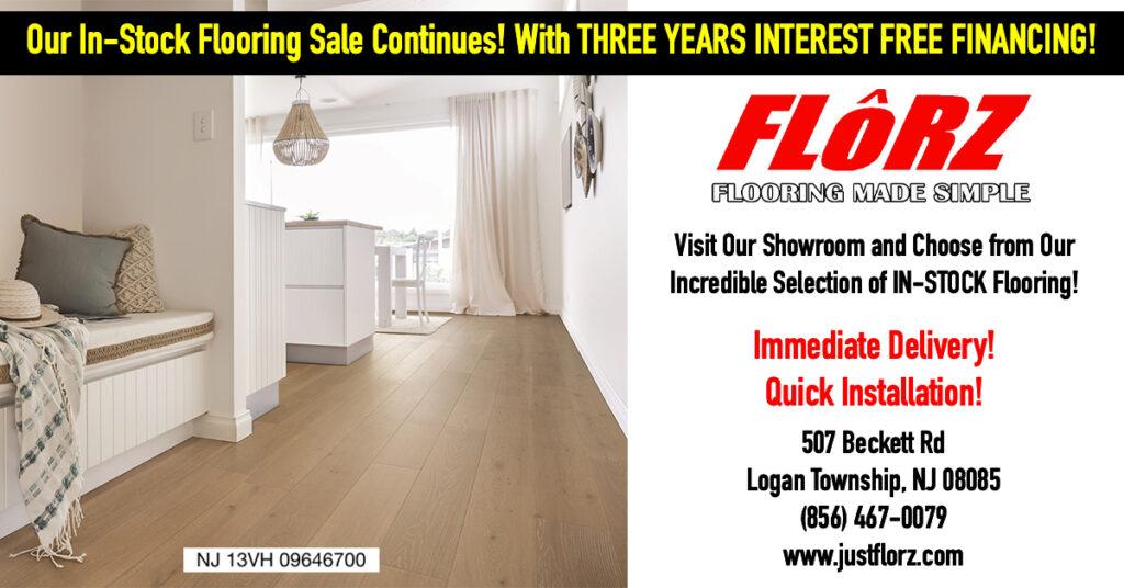 In stock Flooring Sale, Immediate flooring installation, interest free financing on flooring, flooring south jersey, flooring delco