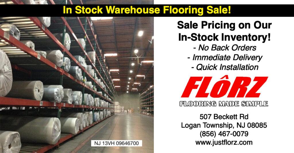 warehouse flooring sale, flooring south jersey, delco flooring, flooring sale, flooring showroom