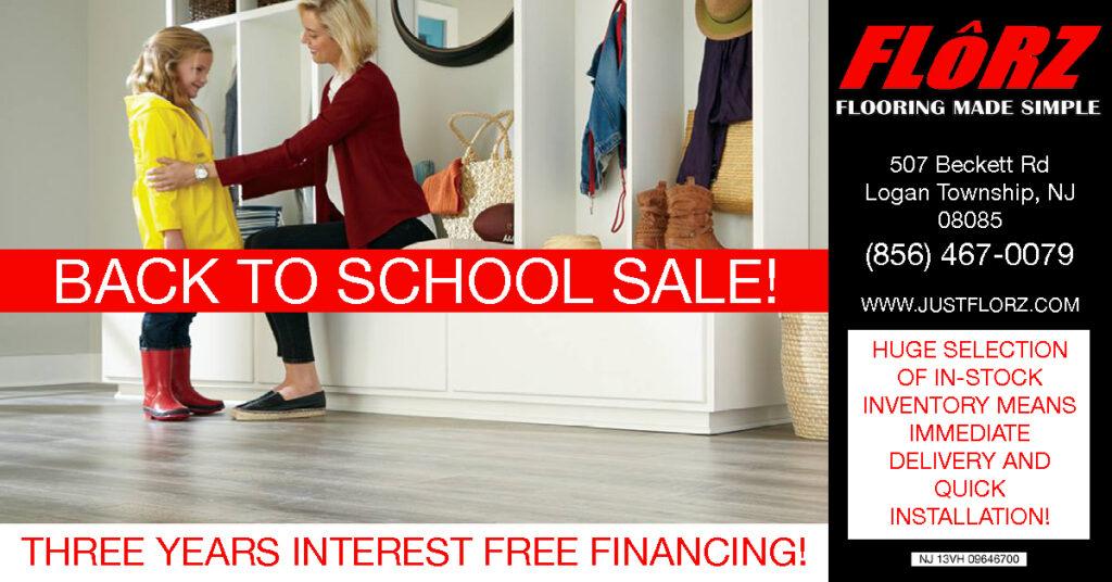Back to school flooring sale, flooring south jersey